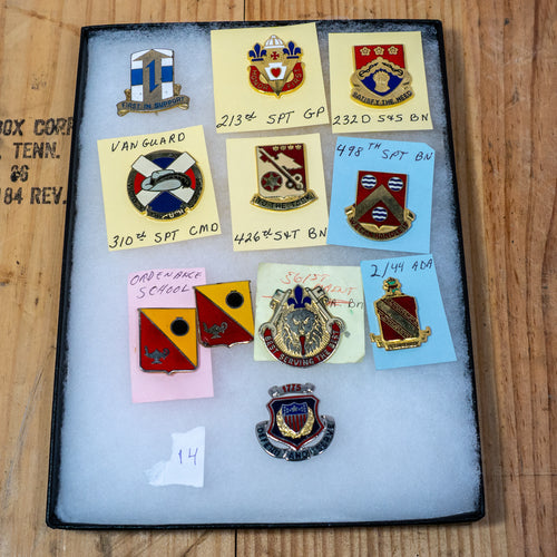 Lot of 10 Distinctive Unit Insignia / Unit Crest  - Lot #14