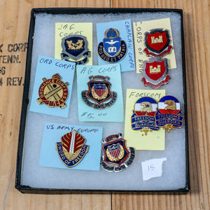 Lot of 10 Distinctive Unit Insignia / Unit Crest  - Lot #15