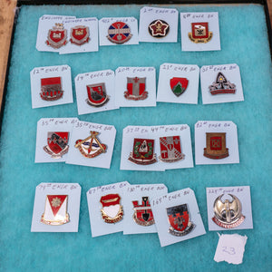 Lot of 20 Distinctive Unit Insignia / Unit Crest  - Lot #23