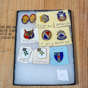 Lot of 10 Distinctive Unit Insignia / Unit Crest  - Lot #24