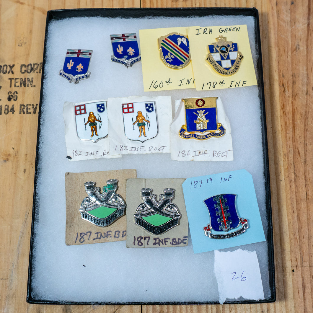 Lot of 10 Distinctive Unit Insignia / Unit Crest  - Lot #26