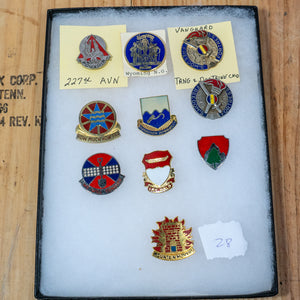 Lot of 10 Distinctive Unit Insignia / Unit Crest  - Lot #28