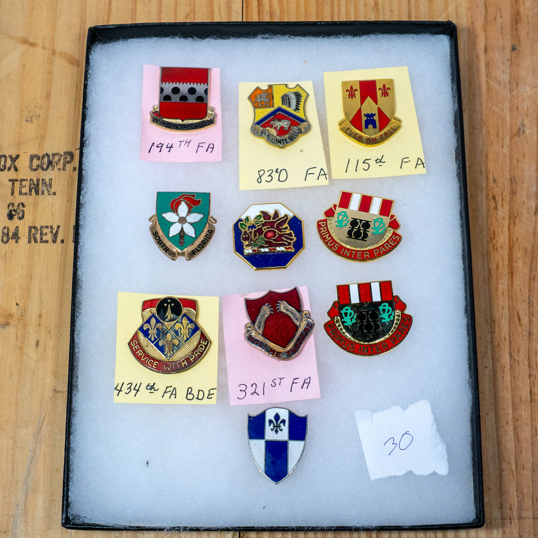 Lot of 10 Distinctive Unit Insignia / Unit Crest  - Lot #30