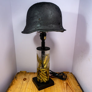 Custom made military theme lamp