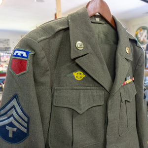 Authentic WWII 6th Army Ike Jacket with 76th Infantry Combat Patch