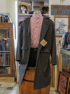 Frontier Classics Grey  Authentic Western Cowboy Kansas Style Frock Coat