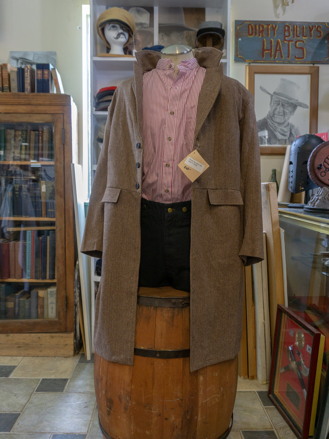 Frontier Classics Authentic Western Wear Old West Brown - Kansas Style Frock Coat