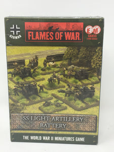 Flames of War SS Light Artillery Battery Miniature Set