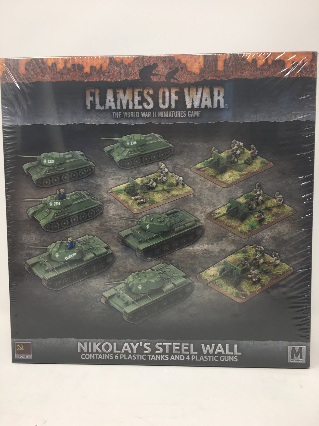 Flames of War Nikolay's Steel Wall Miniature Set