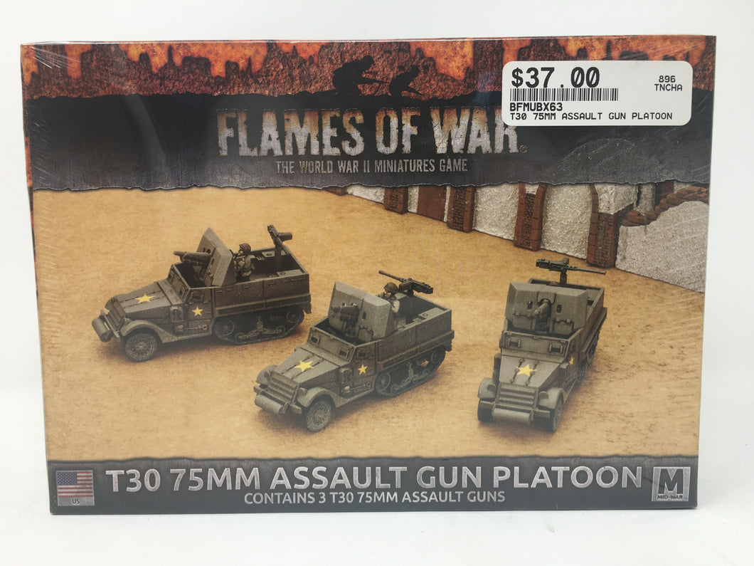 Flames of War T30 75MM Assault Gun Platoon Miniature set