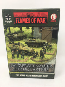 Flames of War Pnzergranadier Headquarters Miniature set