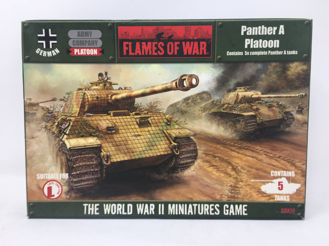 Flames of War Panther A Platoon GBX19 Miniature Set