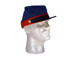 Reproduction Civil War Confederate CSA Wool Artillery Kepi P19