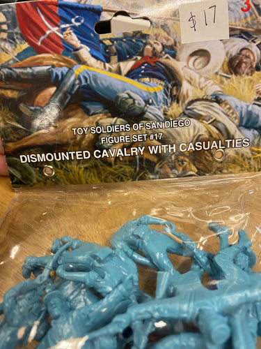Toy Soldiers of San Diego Figure Set #17 Dismounted Cavalry with Casualties