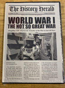 "World War I ""The Not So Great War"" DVD"