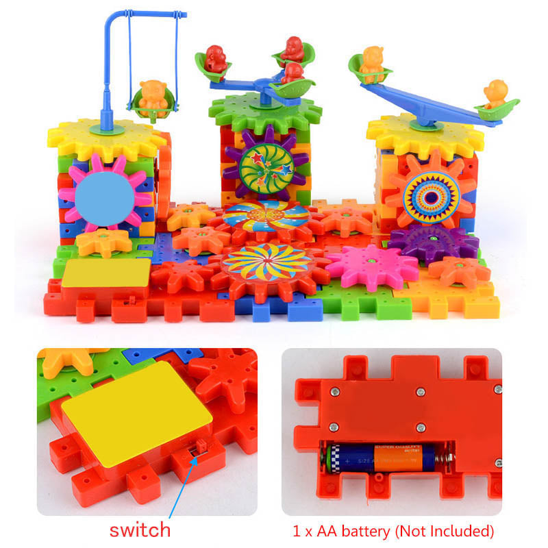 eac2a006 81 Pieces Electric Gears 3D Puzzle Building Kit || Educational Toys For Kids
