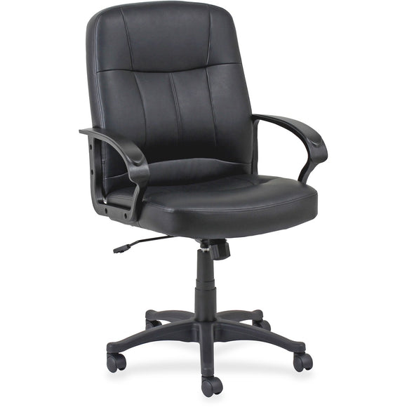 Lorell Chadwick Managerial Leather Mid-Back Chair
