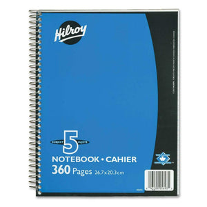 Hilroy Executive Coil Five Subject Notebook
