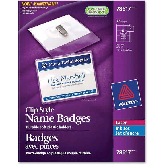 Avery® 78617 Laser/Inkjet Badge Insert
