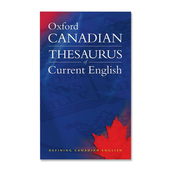 Oxford University Press Canadian Thesaurus of Current English Printed Book by Katherine Barber, Robert Pontisso, Heather Fitzgerald
