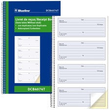 Blueline Bilingual Receipt Book