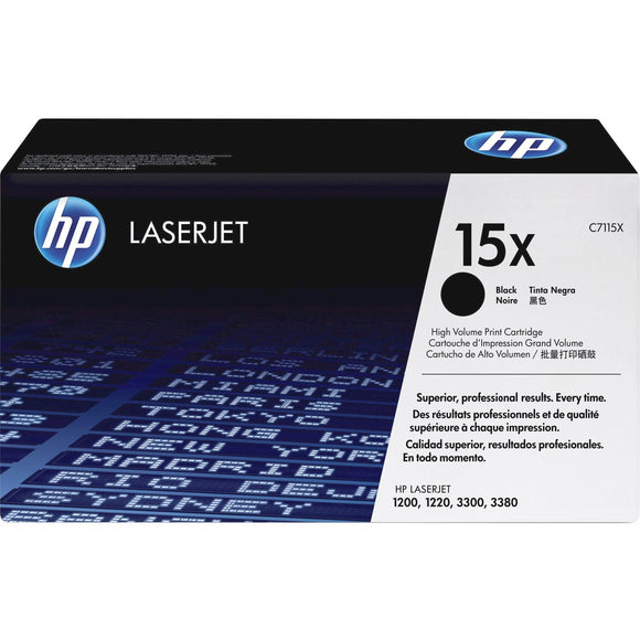 HP 15X (C7115X) Original Toner Cartridge - Single Pack - The Supply Room