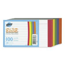 Hilroy Color Edged Stack Ruled Index Card