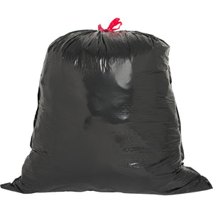 Genuine Joe Black Flex Drawstring Trash Liners