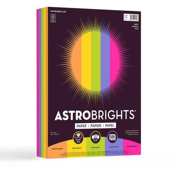 Astrobrights Inkjet, Laser Colored Paper