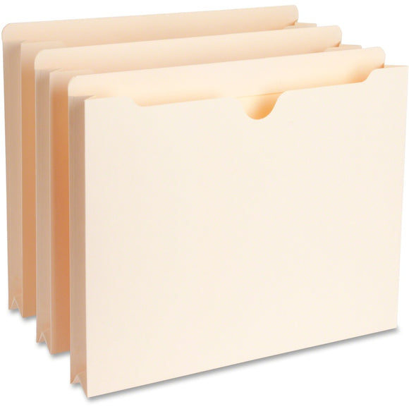 Business Source Full Height Sides Manila File Pockets