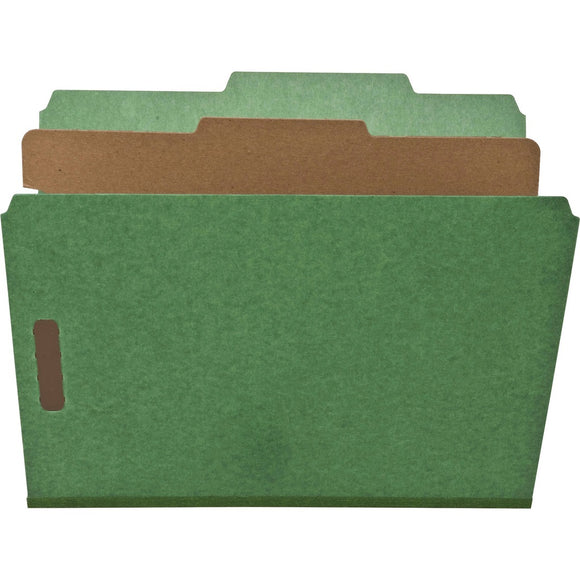 Nature Saver 1-Divider Recycled Classification Folders