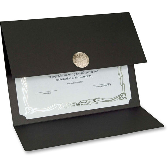 St. James® Elite Medallion Fold Certificate Holders with Silver Medallion