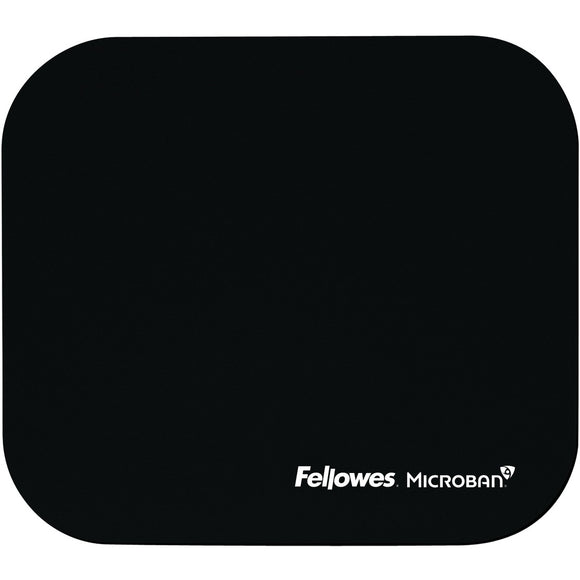 Fellowes Microban® Mouse Pad - Black - The Supply Room