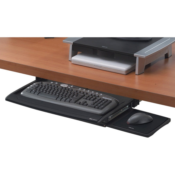 Fellowes Deluxe Keyboard Drawer With Soft Touch Wrist Rest - The Supply Room