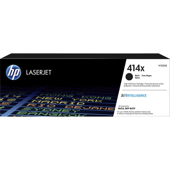 HP 414X (W2020X) High Yield Black Original LaserJet Toner Cartridge