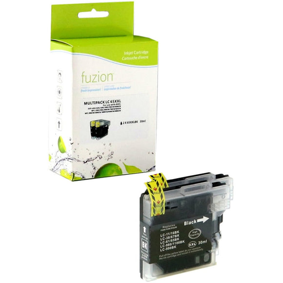 fuzion Ink Cartridge - Alternative for Brother LC65 - Black