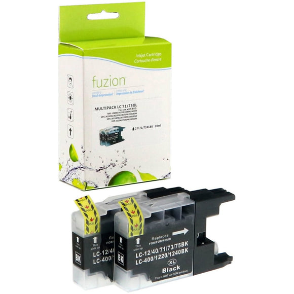 fuzion Ink Cartridge - Alternative for Brother LC75 - Black