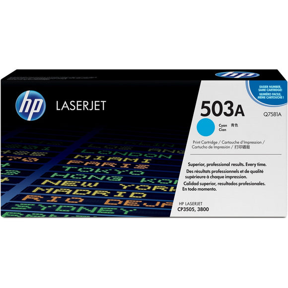 HP 503A (Q7581A) Original Toner Cartridge - Single Pack