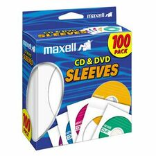 Maxell CD-402 CD/DVD Sleeves (100-Pack)