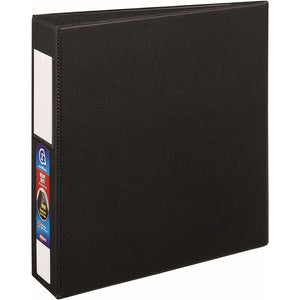 "Avery® Heavy-Duty Binder, 2"" One-Touch Rings, 540-Sheet Capacity, Label Holder, DuraHinge(R), Black (79992)"