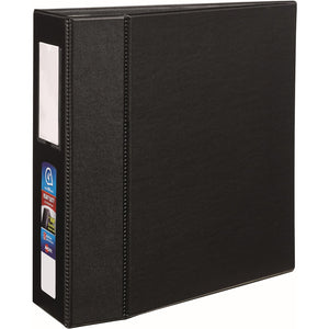 "Avery® Heavy-Duty Binder, 4"" One-Touch Rings, 780-Sheet Capacity, Label Holder, DuraHinge(R), Black (79994)"