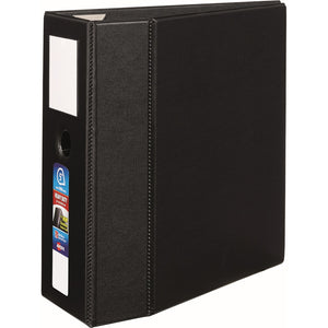 "Avery® Heavy-Duty Binder, 5"" One-Touch Rings, 925-Sheet Capacity, Label Holder, DuraHinge(R), Black (79996)"