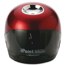 "Battery Pencil Sharpener, 3""x3""x3-1/2"", Red/Black - The Supply Room"
