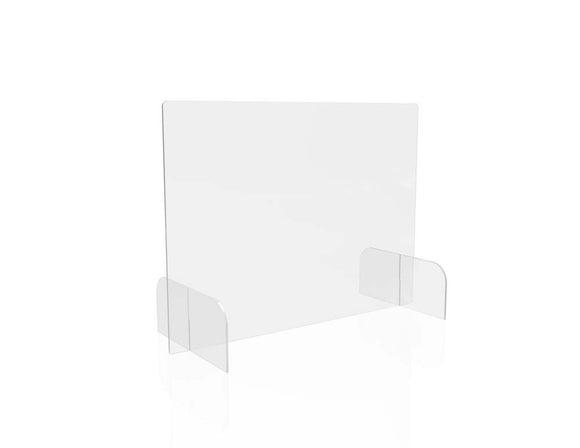 Countertop Safety Barrier Full Shield with Feet (2 units/pack)