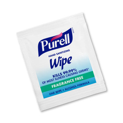 PURELL® Hand Sanitizing Wipes Alcohol Formula 1000 Individually-Wrapped Wipes in Bulk Packed Shipper