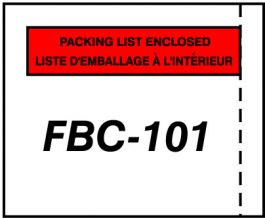 FBC101 Packing List Envelopes