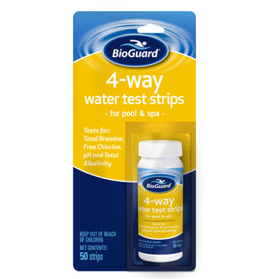 "4-Way Test Strips</br><font color=""grey"">(For testing water)</font>"