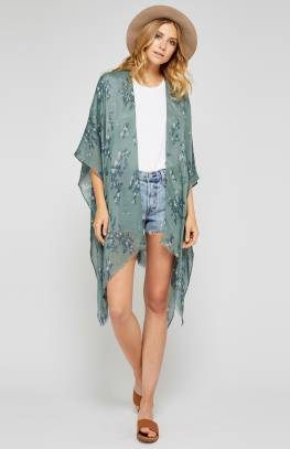 Gallery Kimono - Chinois Green Thicket