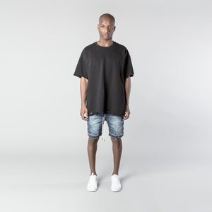 Denim Double Hem Short - Indigo Blue