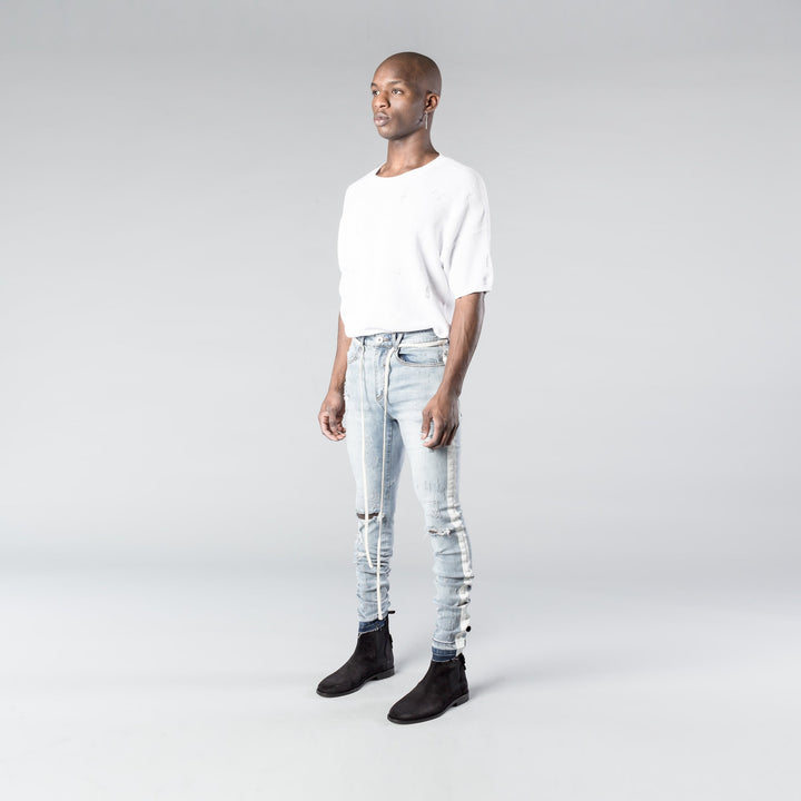 Racer Painted Stripe Denim V2